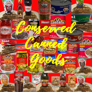Conserved Goods & Canned Goods